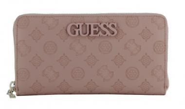 Damenbrieftsache Altrosa Guess Janelle Rosewood Gepragt Bags More Brieftasche Altrosa Marken Logo