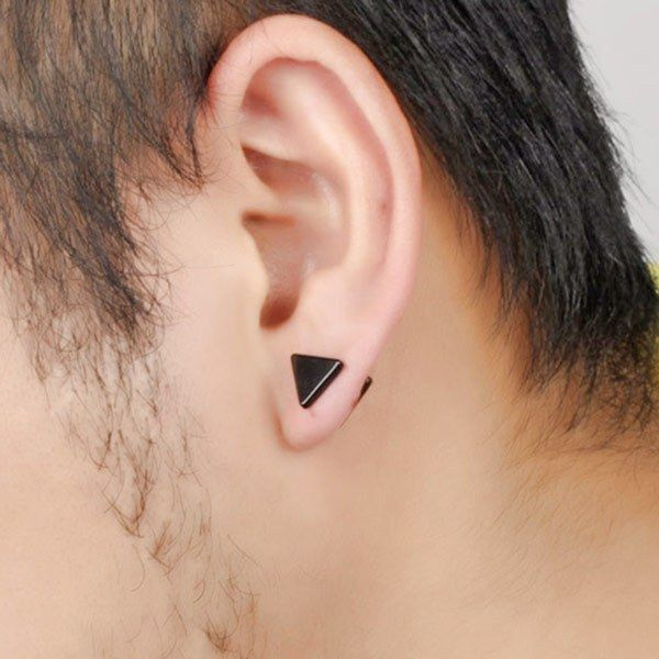 boucle d'oreille homme triangle