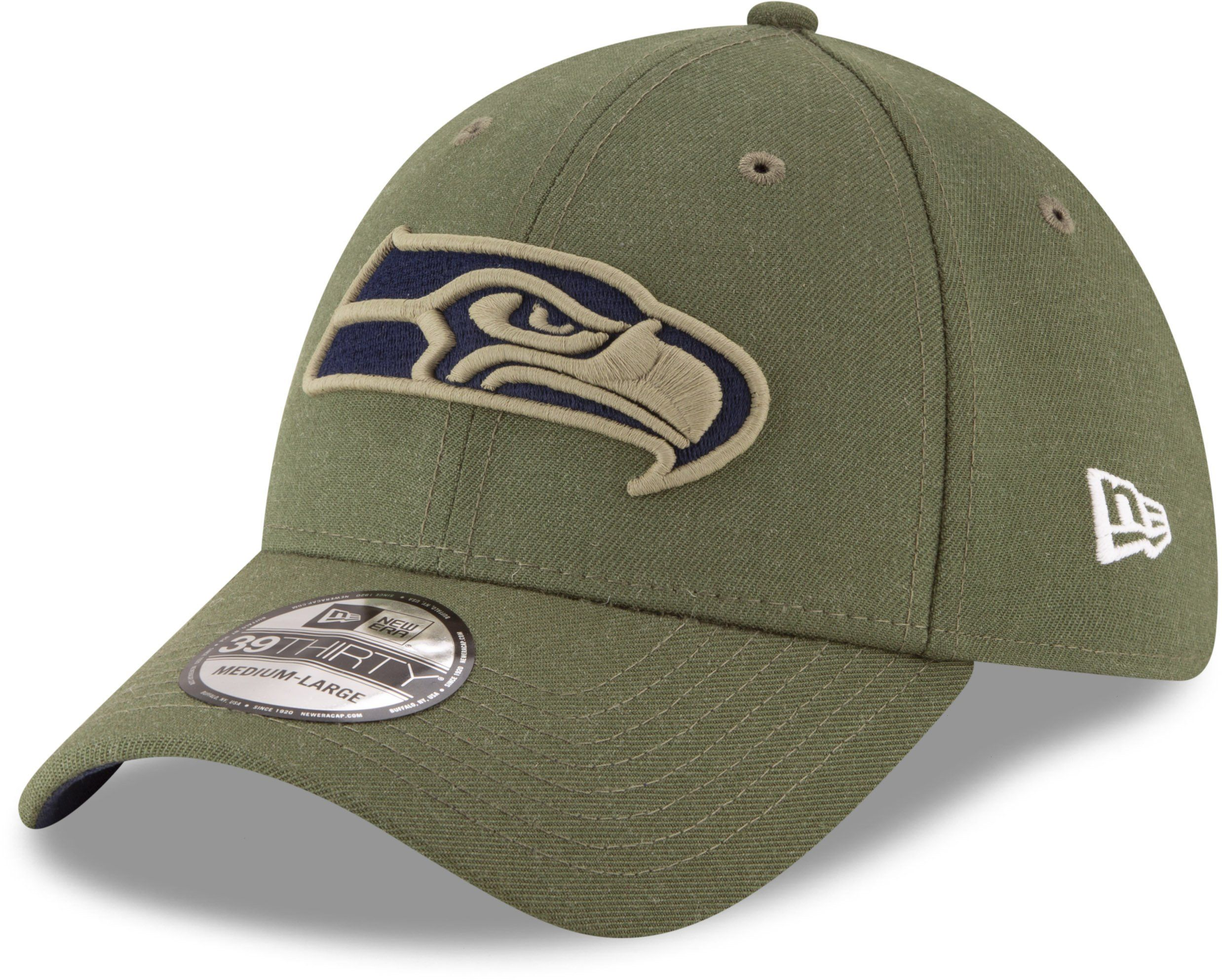 Seattle Seahawks New Era 3930 NFL On Field 2018 STS Stretch Fit Cap –  lovemycap b444d7aa3