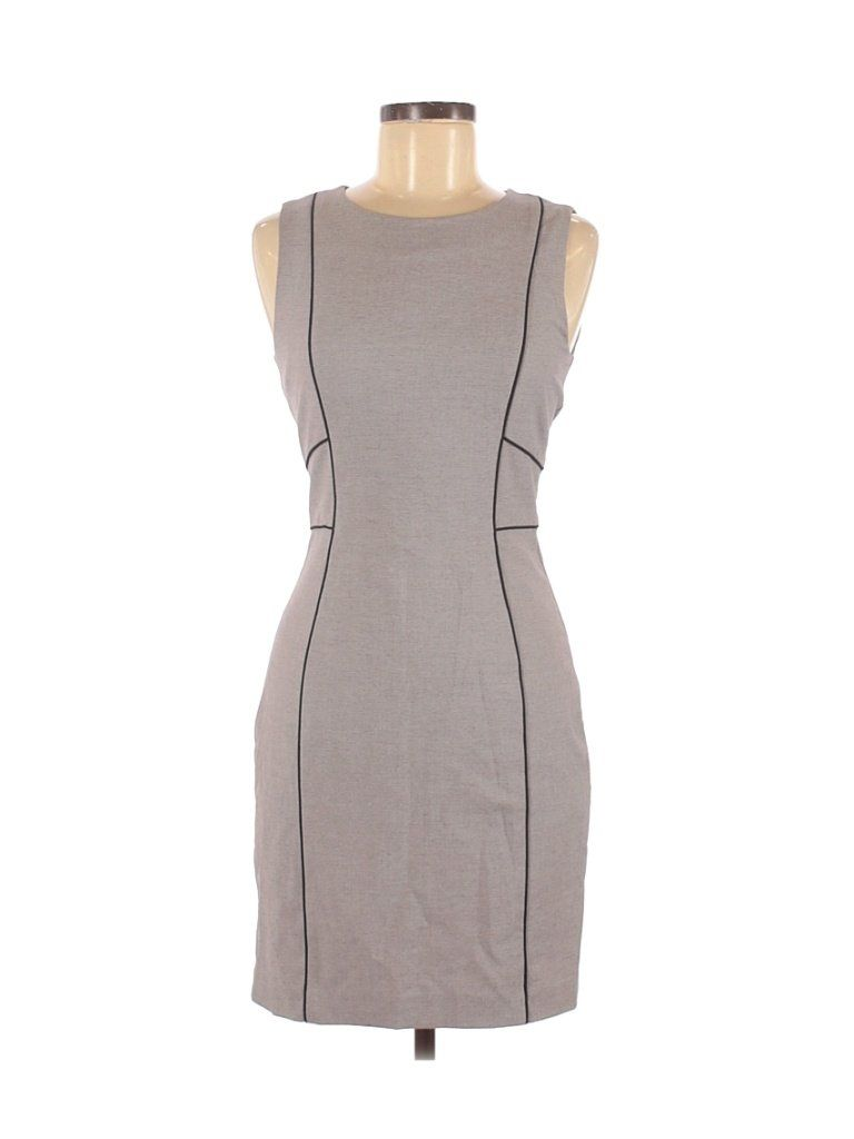 H M Solid Gray Casual Dress Size 6 42 Off In 2021 Casual Dress Dresses Solid Dress [ 1024 x 768 Pixel ]
