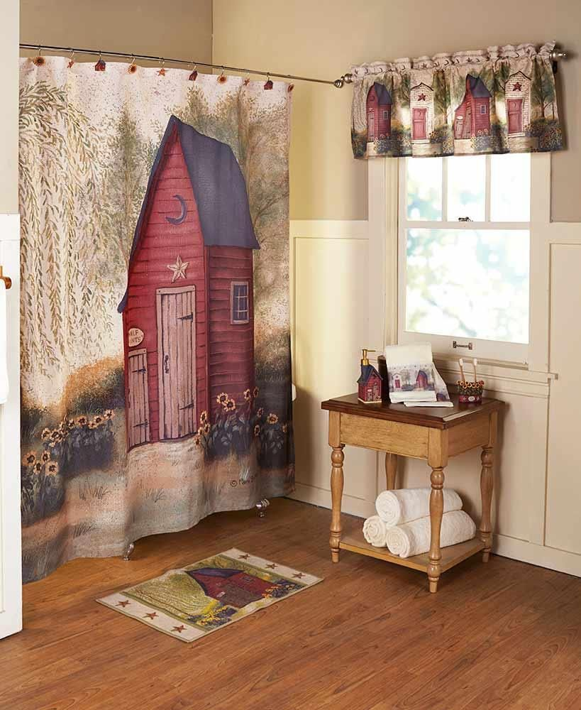 Details About Rustic Country Primitive Outhouse Bathroom Decor
