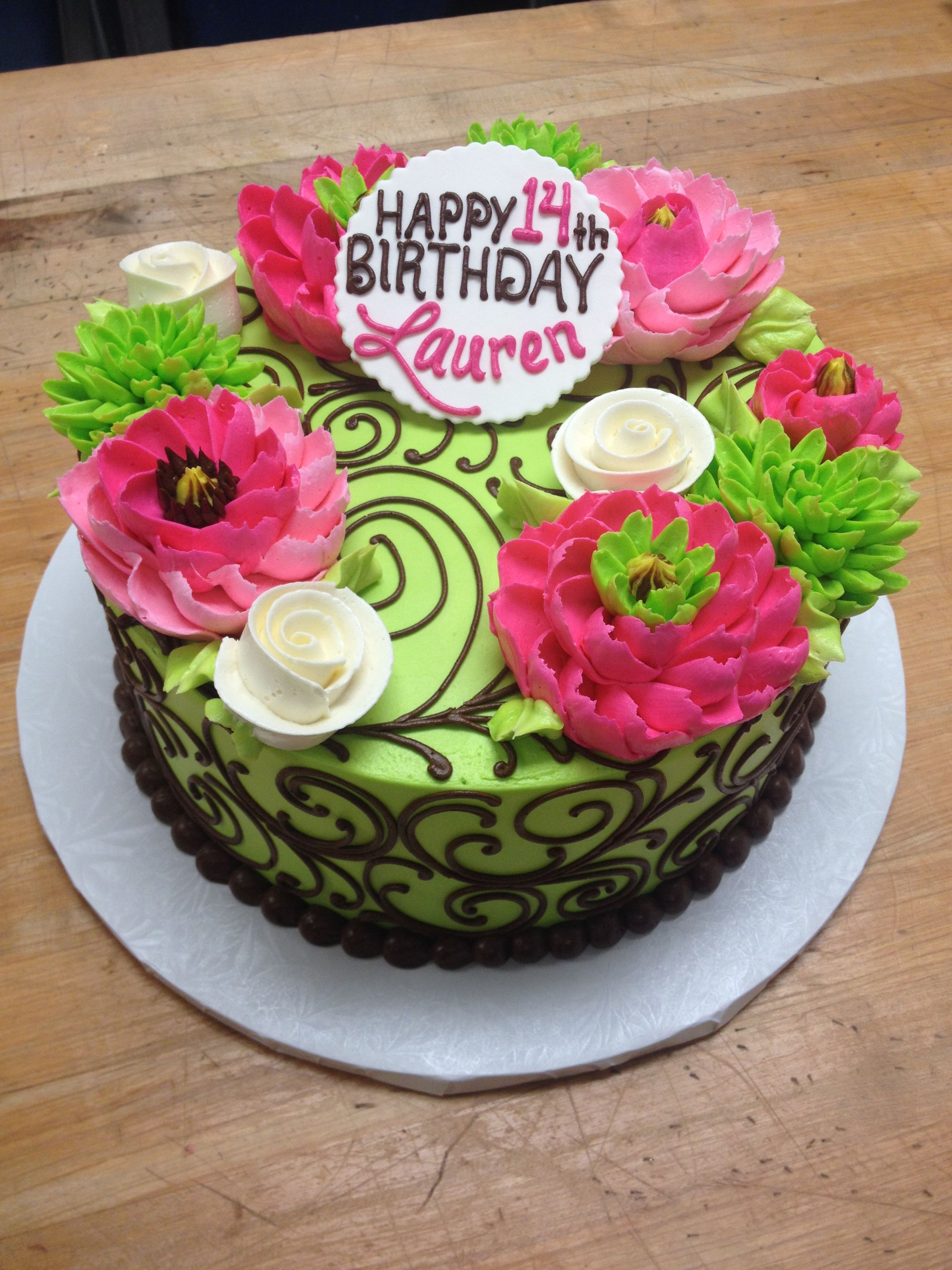 Colorful flower cake by The White Flower Cake Shoppe Awesome Cakes
