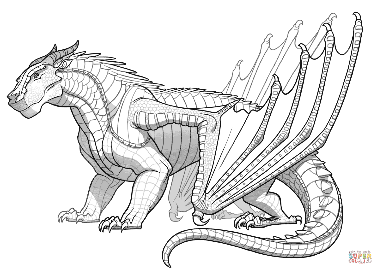 Mudwing Dragon From Wings Of Fire Coloring Page Free Printable Coloring Pages Zoo Animal Coloring Pages Dragon Coloring Page Pokemon Coloring Pages