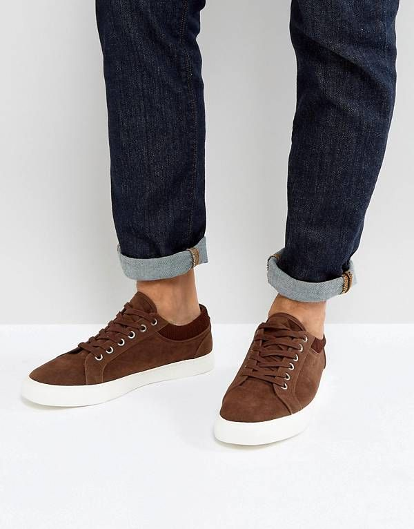 17ca8b2d444 Trainers In Brown With Cuff
