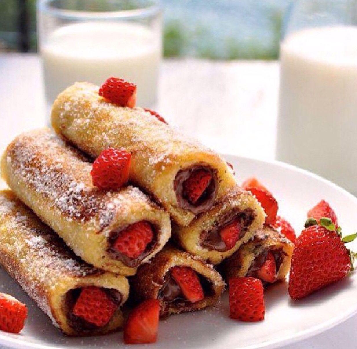 Chocolate and strawberry crepe. | Receitas com nutella ...