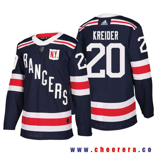 2fa3160bc ... stitched nhl jersey 55b17 67e90  coupon code for mens new york rangers  20 chris kreider navy authentic 2018 winter classic jersey