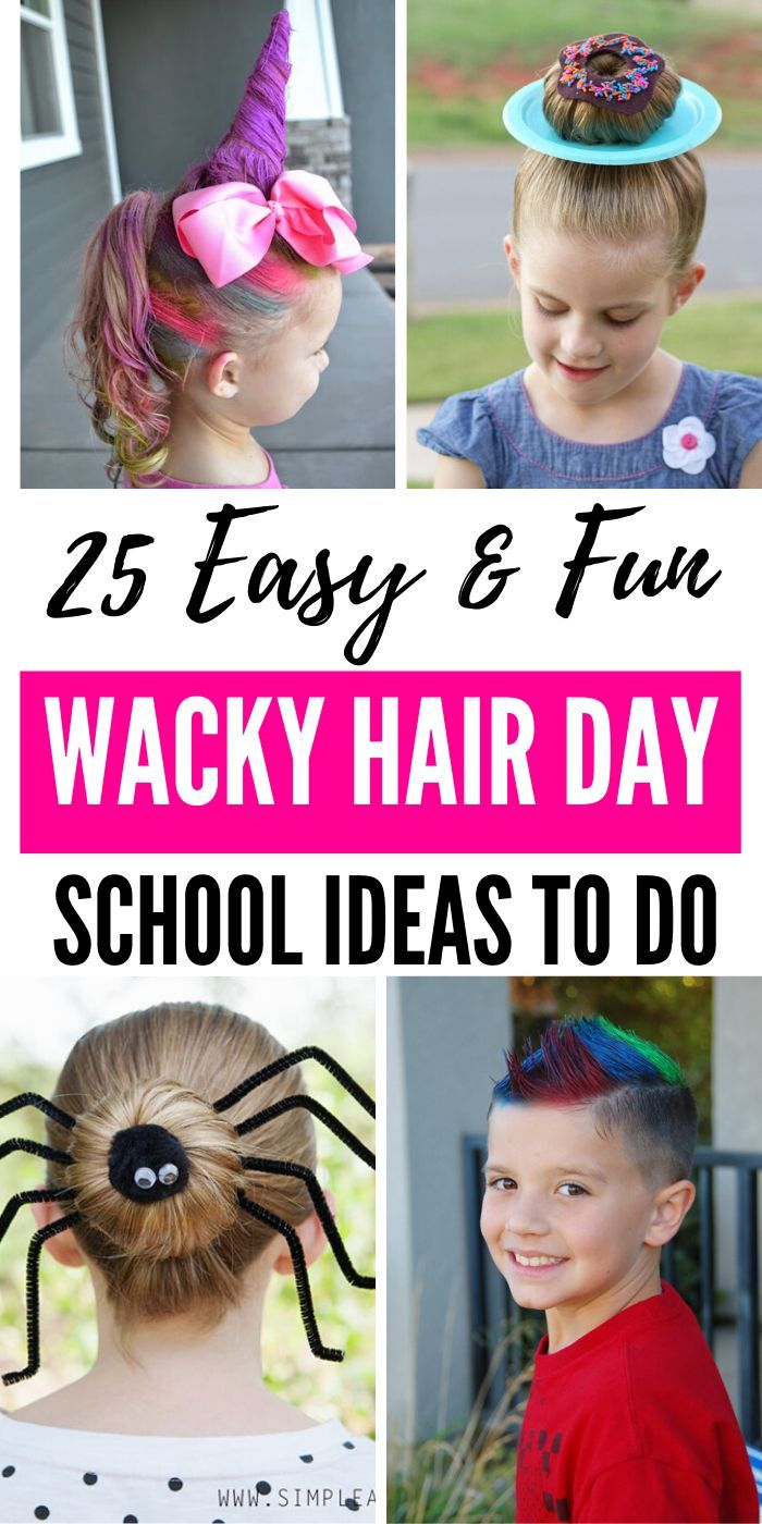 Wacky Hair Day Ideas for School