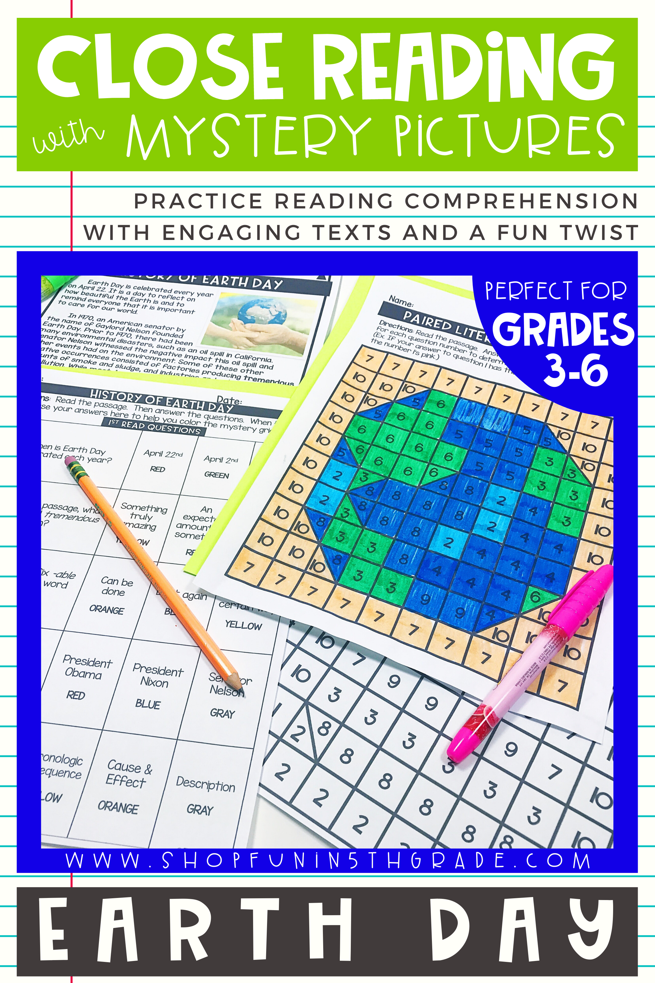 Earth Day Close Reading Comprehension