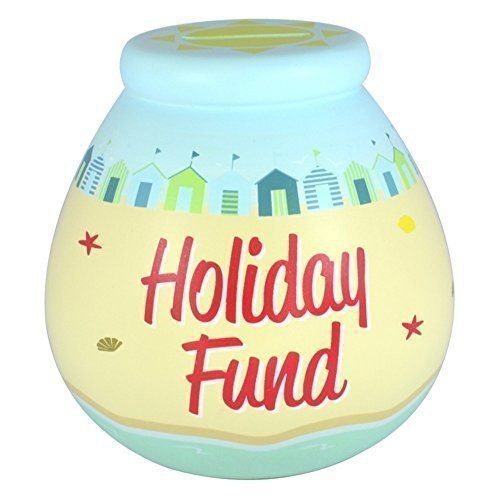 Holiday Fund Tirelire pour les vacances: Holiday Fund Tirelire pour les vacances – Tirelire en céramique «Holiday Fund» – Décoréà la main…