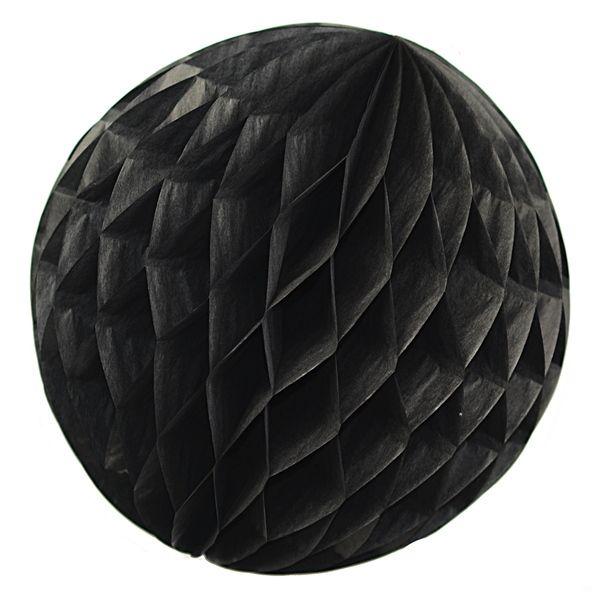 Hochzeitsdeko   Wabenball Honeycomb Lampion Schwarz: 10 Cm   Ein  Designerstück Von Simplydeko Bei