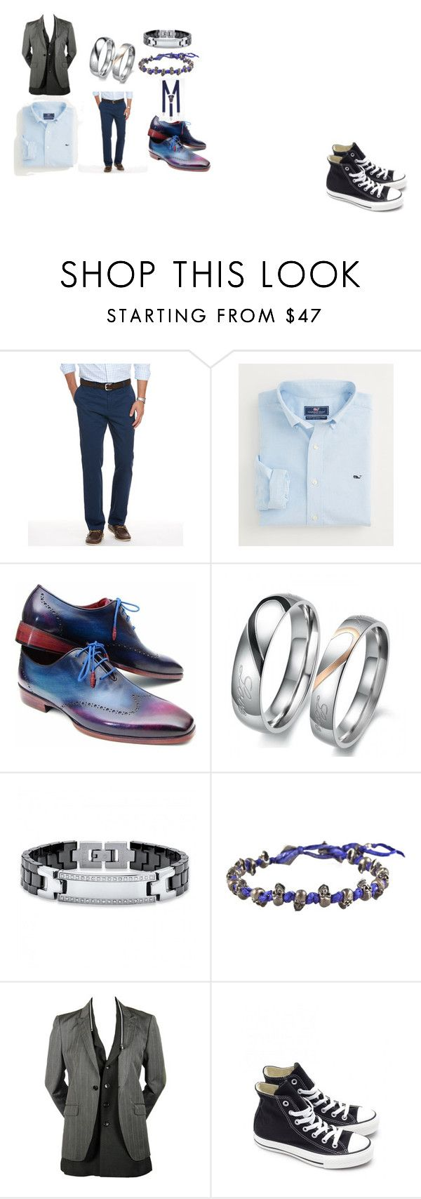 """""""Men's Chic"""" by demijay on Polyvore featuring Vineyard Vines, M. Cohen, Converse, Express, women's clothing, women, female, woman, misses and juniors"""
