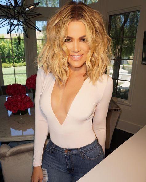 Exactly How to Curl Your Bob Like Khloé Kardashian - Beste Haarstyling Männer Feines Haar #khloekardashian