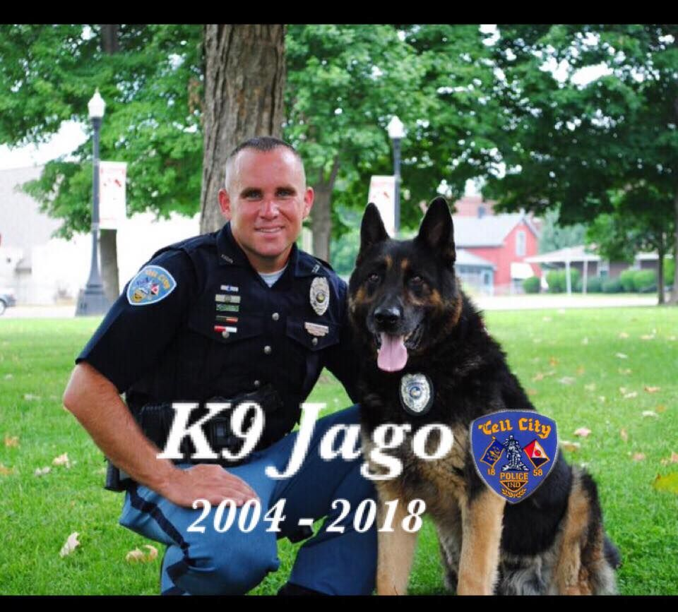K9 Jago E O W 12 June 2018 K9 Jago Was With The Tell City Police Department And Had Served 9 Years Of Active Military Working Dogs Working Dogs Tell City