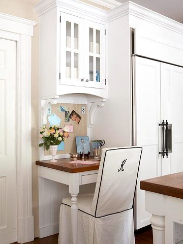 Kitchen Office Nook On Pinterest Kitchen Office Spaces