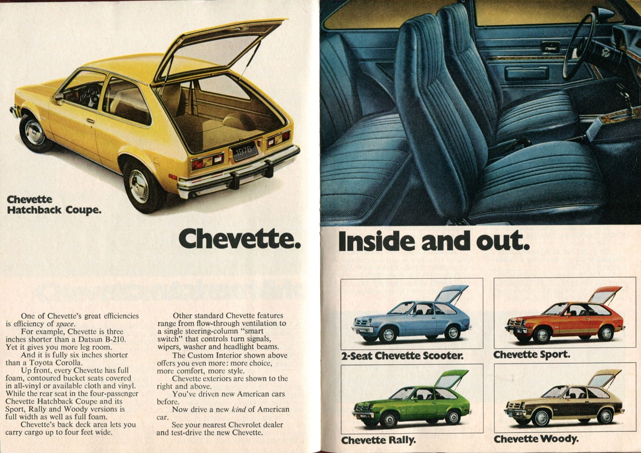 1976 Chevrolet Chevette Advertisement Readers Digest November 1975