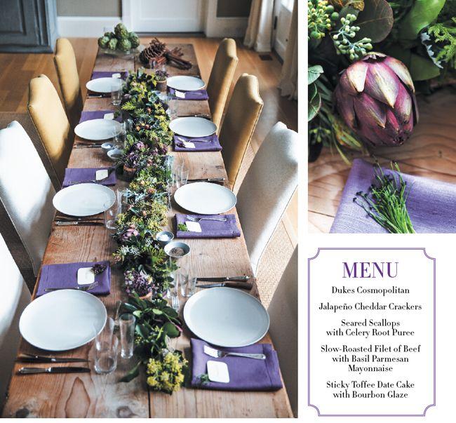 Join us for dinner at Ina Garten's - Hamptons Cottages & Gardens - December 2012 - Hamptons. #candg