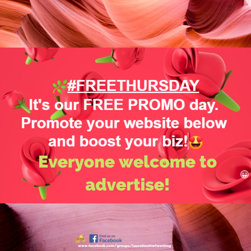 Welcome To Free Thursday It S Our Free Advertising Day Over On Our Facebook Group And You Re Welco Business Promo Facebook Group Business Networking