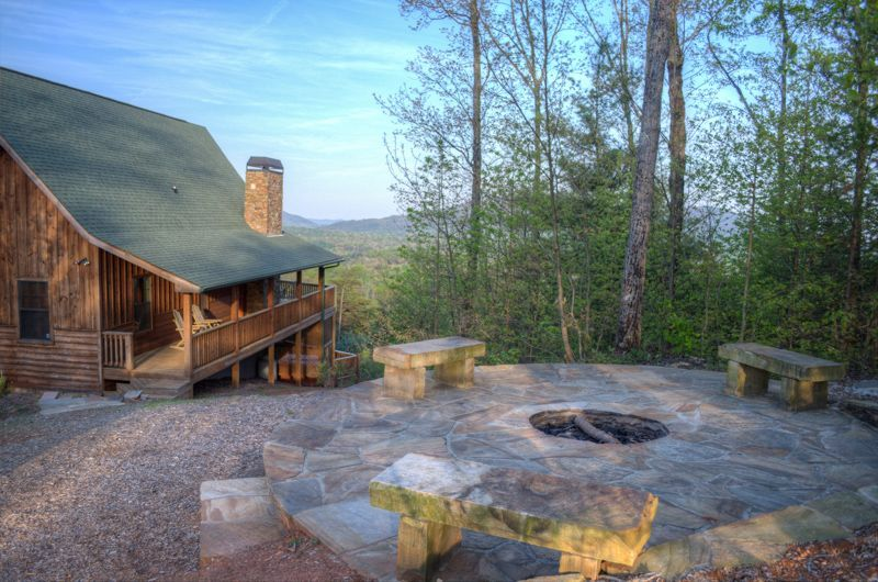 Bon Luxurious 5 BR Cabin With Drop Dead Views And Stone Fire PitVacation Rental  In Helen, GA From