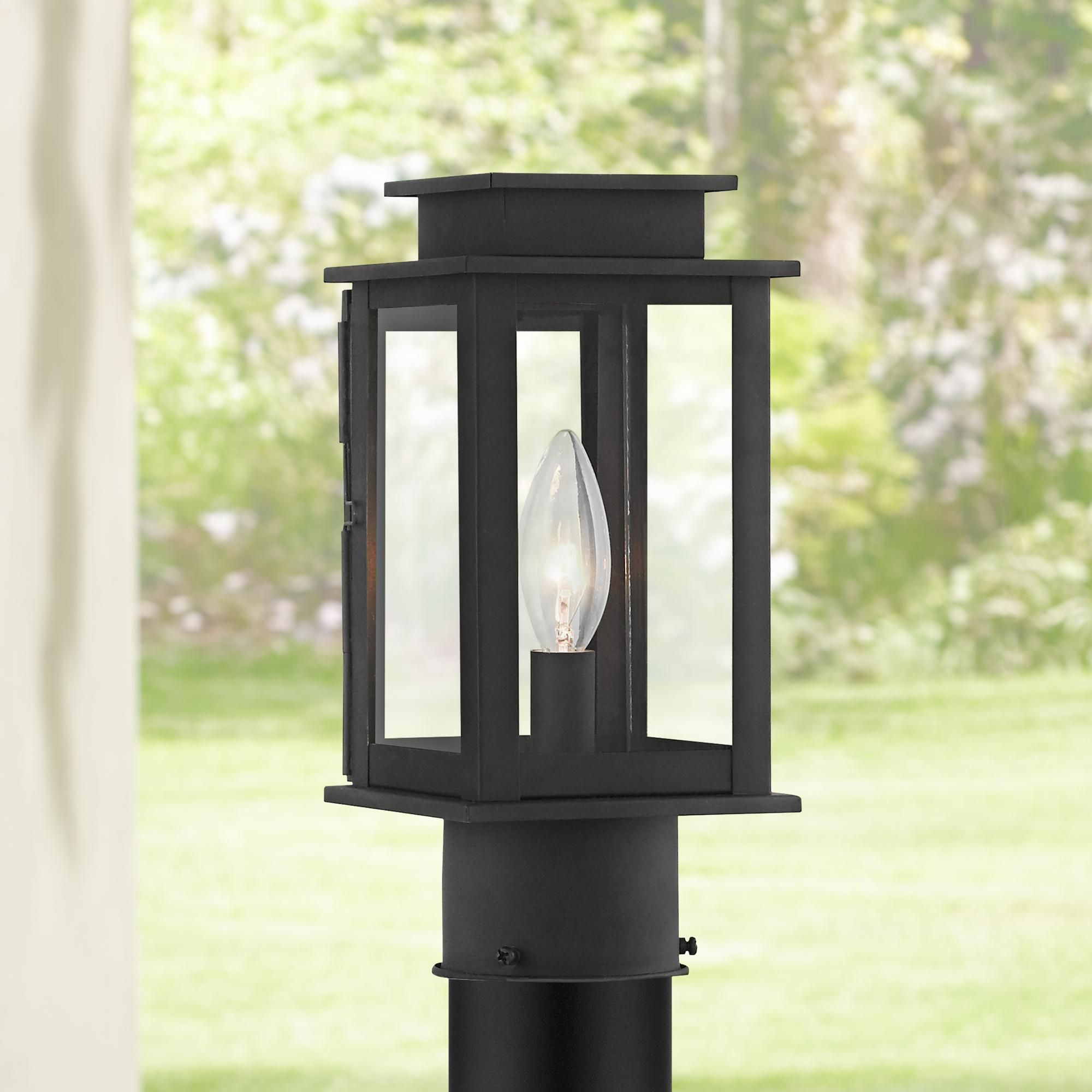 Princeton 10 And One Half Inch High Black Outdoor Post Light