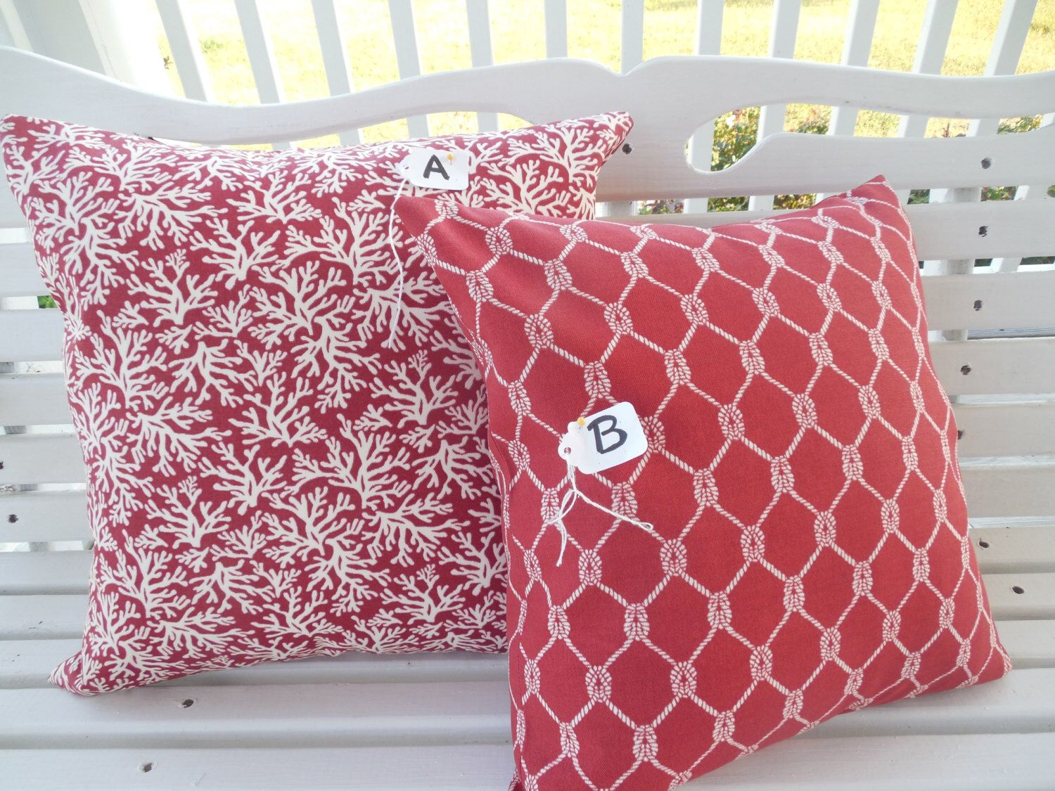 pillows coastal of red products pillow shades outdoor crab light