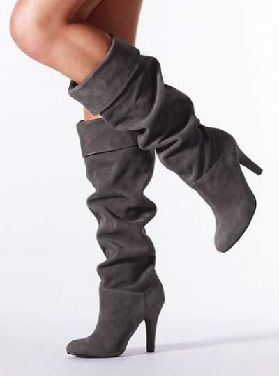 eeb1f8f6ddb I super want a pair of slouchy gray boots that don t remind me too much of  puss in boots