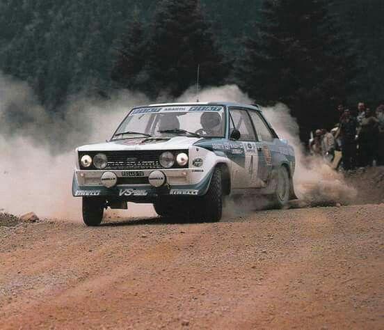 Acropolis 1981 Markku Alen Ilkka Kivimaki Fiat 131 Abarth