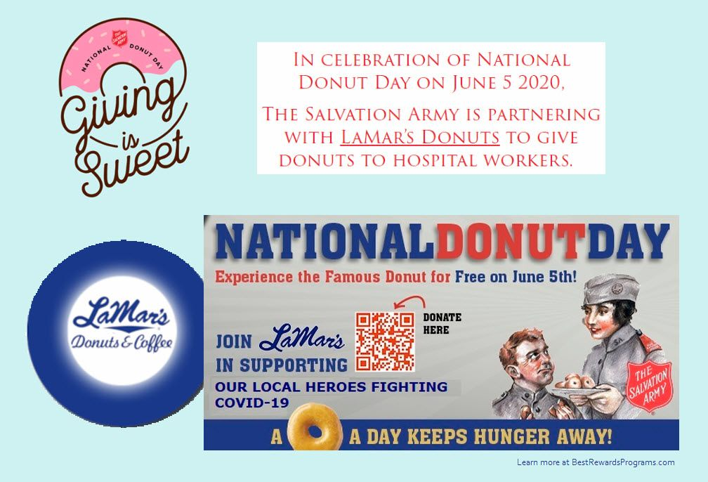 LaMar's Donuts Free on National Donut Day June 5, 2020 in