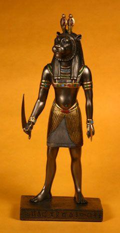 Maahes Era Un Dios Del Antiguo Egipto Representado Con Cabeza De