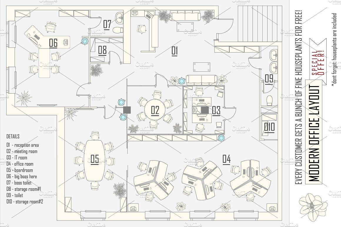 Office Layout Construction Kit