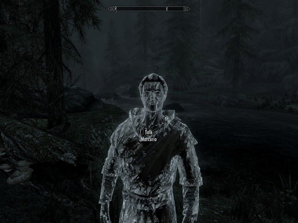 Is This A Bug Marcurio Looks Like An Ice Man Games Skyrim Elderscrolls BE3 Gaming Videogames Concours NGC