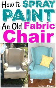 Spray Painted Fabric Chair Rescued From The Trash #spraypainting