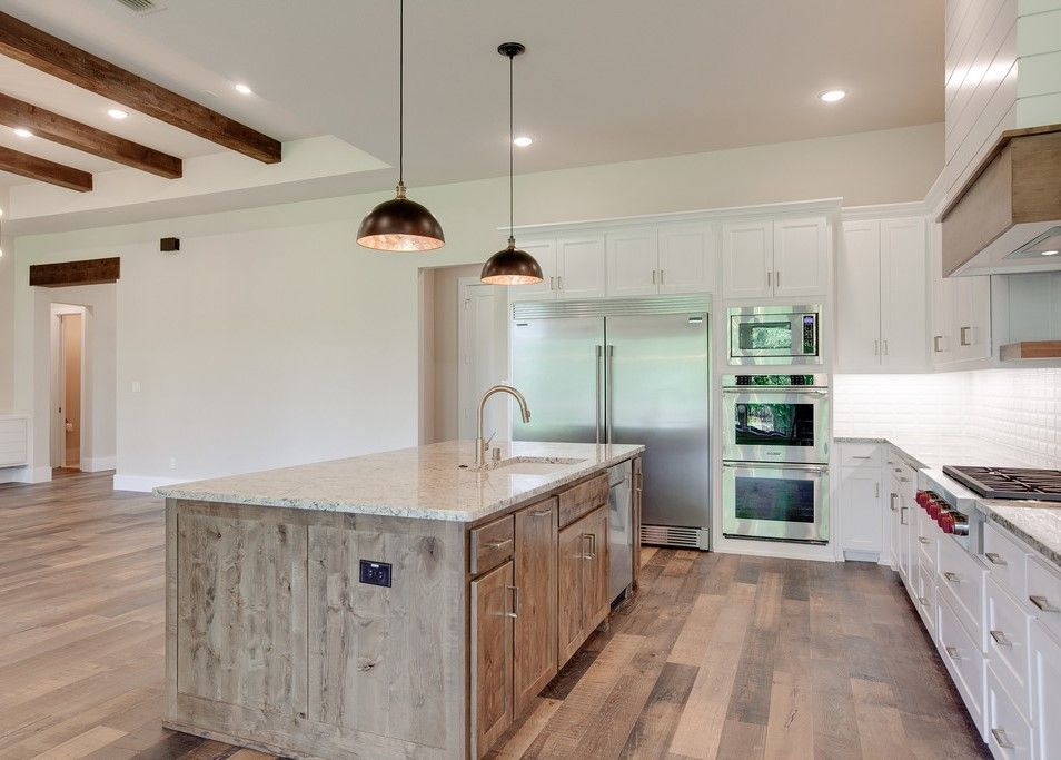 Cedar Header And Tray Ceiling With Beams In Family Room Dreamhome Interior Interiors Interiordesign Dfw Dalla House Design Kitchen And Bath Custom Homes