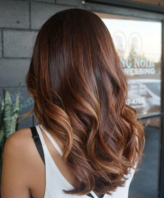 This Is So Beautiful Hair Color It Created From Highlights Or Dark Brown With Auburn Worth To Have