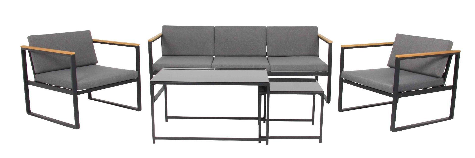 Space Lounge Set 5 Teilig Stahl Verzinkt Pulverbeschichtet Lounge Mobel Mobel Lounge