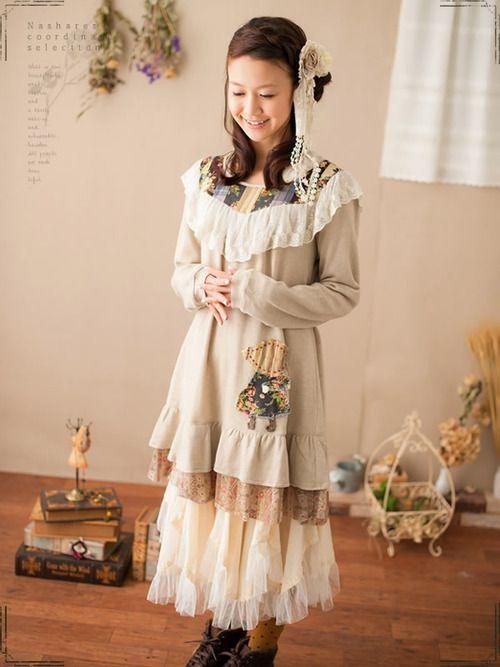 #mori, #morikei, #forestgirl  http://item.rakuten.co.jp/nashare/h-2421db/  http://monmonmori.tumblr.com/