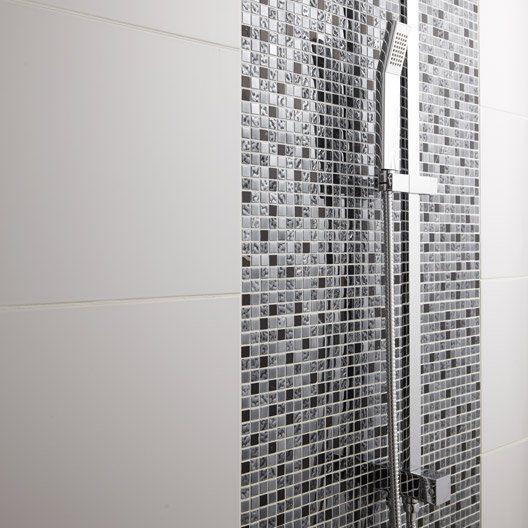 mosaique_sol_et_mur_fusion_futurisme_noir_et_chrome Salle de bain
