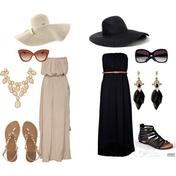 Maxi dresses and hats