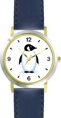 Penguin Cartoon - JP - WATCHBUDDY® DELUXE TWO-TONE THEME WATCH - Arabic Numbers - Blue Leather Strap-Size-Children's Size-Small ( Boy's Size & Girl's Size ) WatchBuddy. $49.95. Save 38%!