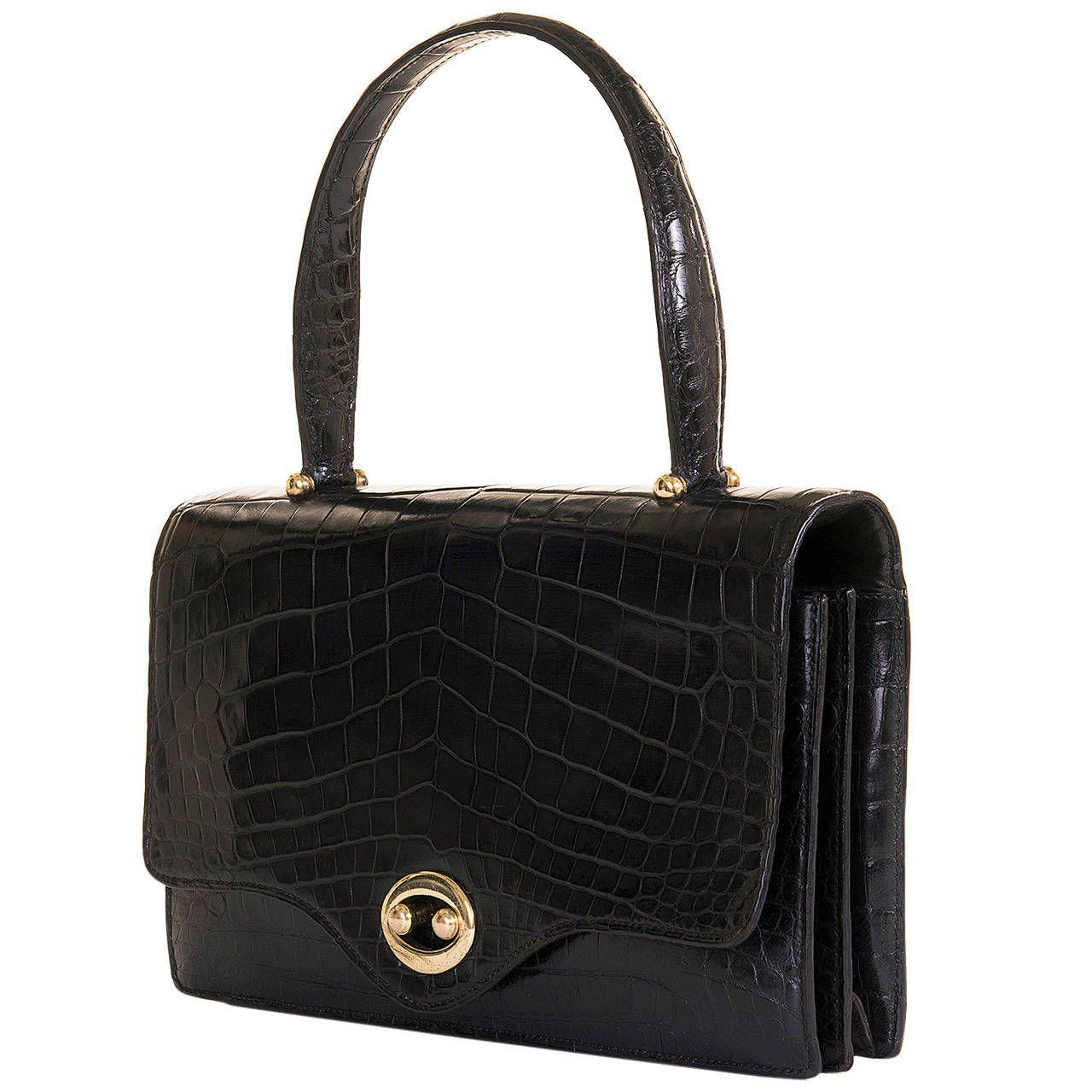 Gucci 60s Rarity Bag In Crocodile YdrPF