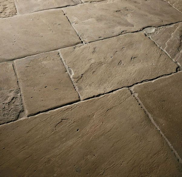 Reclaimed Rustic Yorkstone Paving Natural Stone Tile Floor Natural Stone Flooring Rustic Flooring