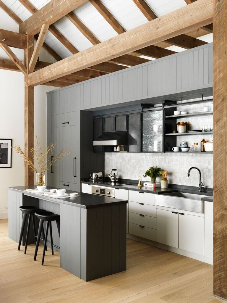 Great Fox Hall Gray And White Kitchen By BarlisWedlick | Remodelista