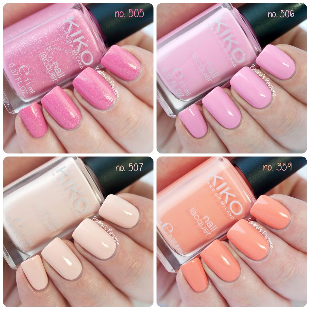 KIKO Nail Polish Swatches Part 2 – no. 505, 506, 507, 359   nails ...