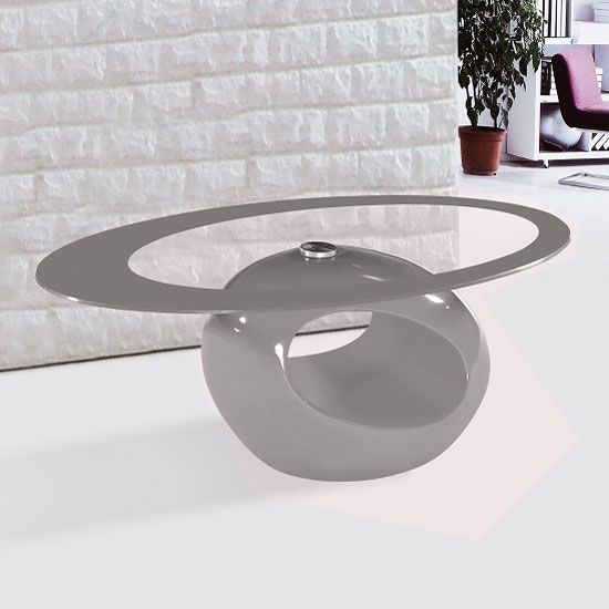 it's a modern looking coffee table, a combination of painted base