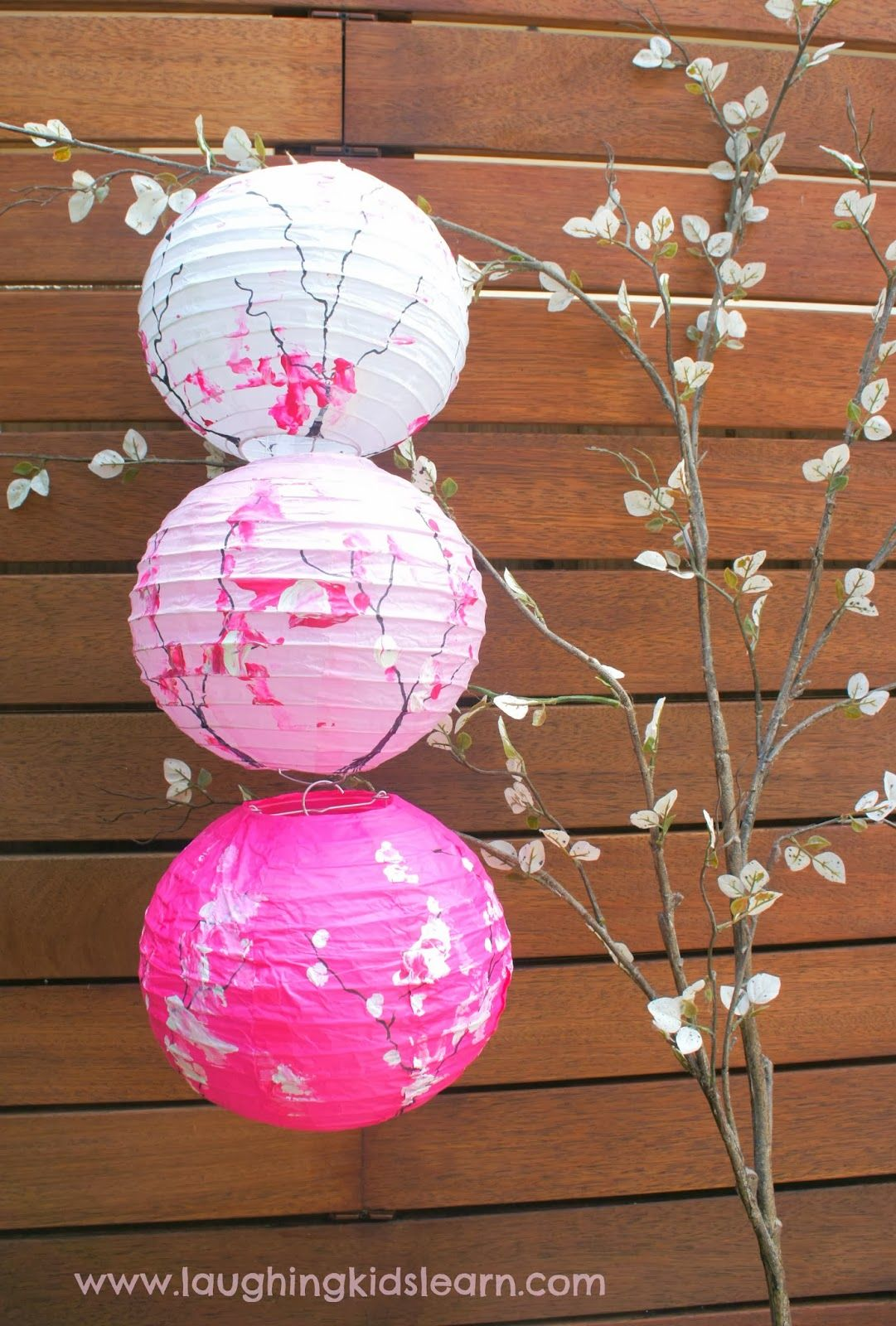 Cherry Blossom Paper Lanterns Beautiful Paper