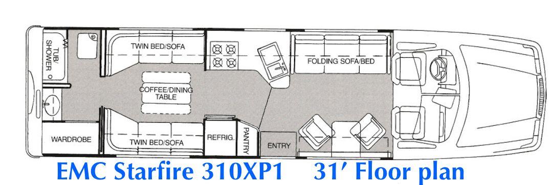 mid-lounge with rear bath 31' space shuttle, powerstroke diesel, motorhome,