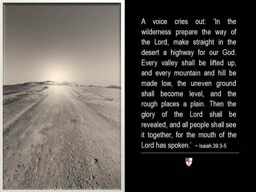 A Voice Cries Out In The Wilderness Prepare Way Of Lord