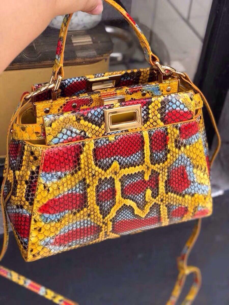 Fendi MINI PEEKABOO python handbag  fendipurse  2cfb0dcc964ab