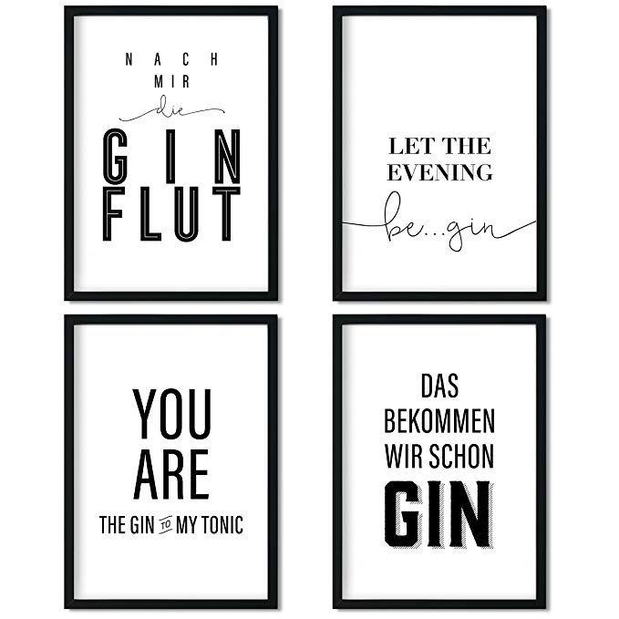 Grosse Auswahl An 4er Poster Set S In Din A4 Z B Gin Mit Ohne