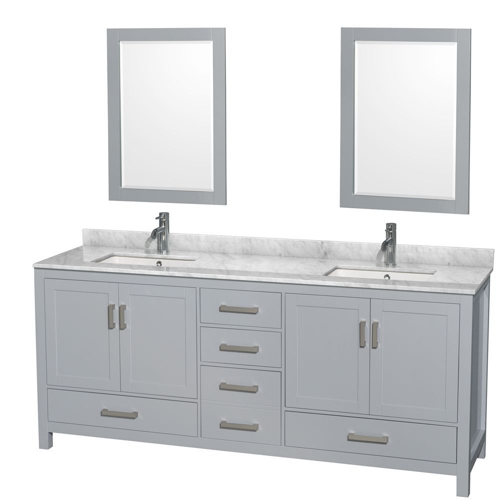Wyndham collection sheffield inch gray double vanity undermount