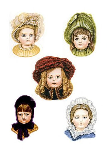 Three Antique Dolls paper dolls by Brenda Sneathen Mattox – Nena bonecas de papel – Picasa Nettalbum